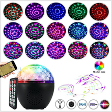 16 RGB LED Disco Ball Light USB Led Stage Light Bluetooth Sound Magic Ball Dj Disco Lights With Remote Control For Party KTV Bar 80 patterns red green laser show system blue led disco party magic ball dance lights stage dj lighting with remote sound control