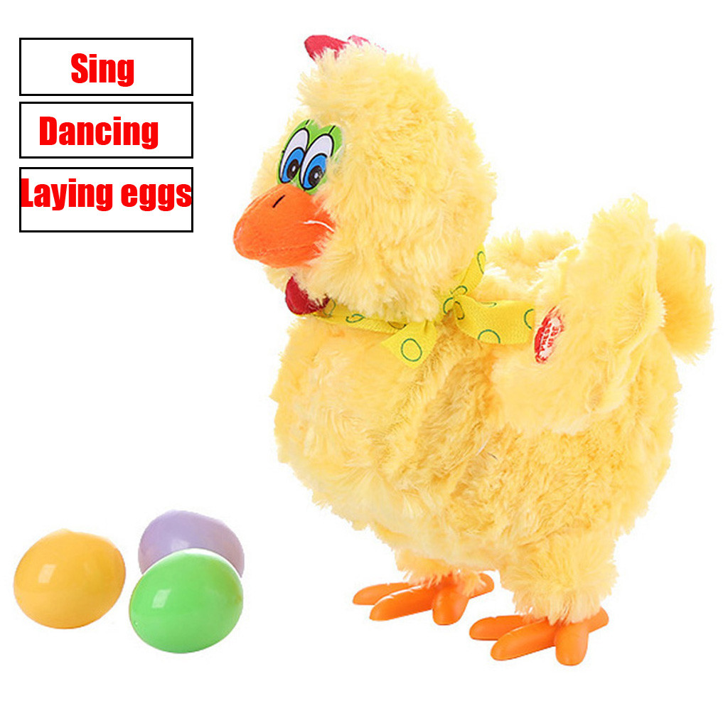 Funny Doll Raw Chicken Hens Will Lay Eggs Of Chickens Crazy Singing&dancing Electric Pet Plush Toys Gifts For Children Toy #LR2
