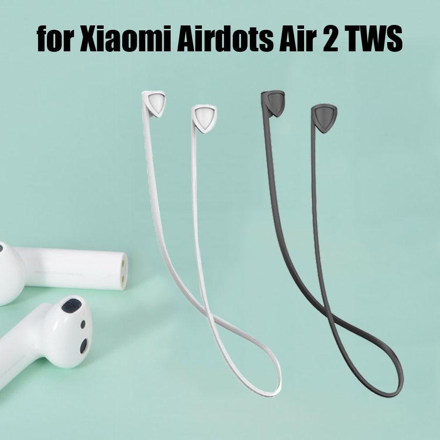 Ремешок для наушников для Xiaomi Airdots Pro 2 Air 2S TWS гарнитура силиконовый кабель с защитой от потери веревка для Airdots Pro 2 аксессуары Аксессуары для наушников      АлиЭкспресс