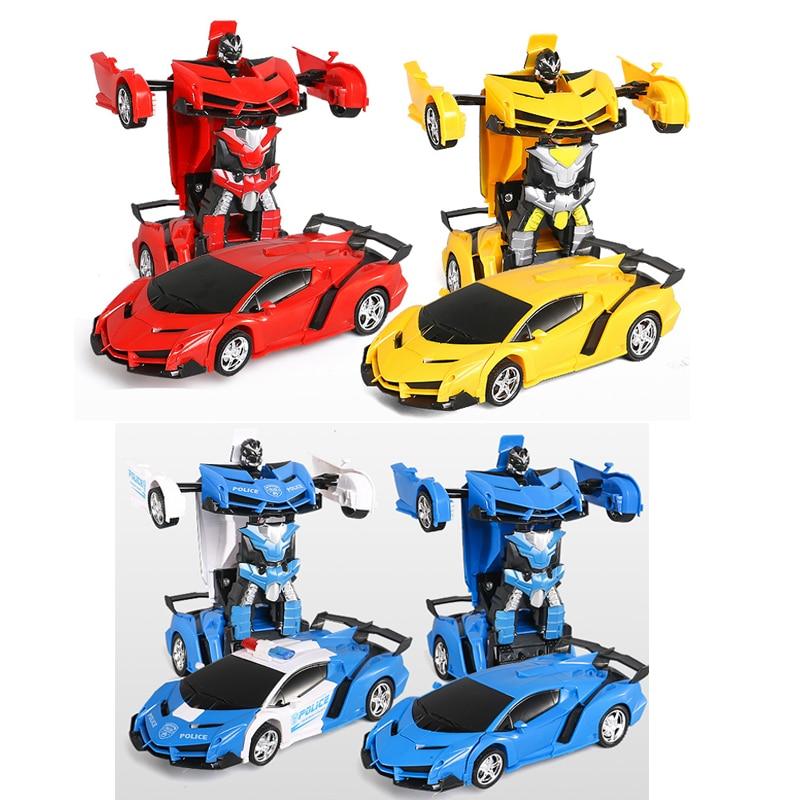 2019 RC Car Transformation Robots Sports Vehicle Model Robots Toys   RC Robot Car Remote Control 2 IN 1 Kid Boys Toy Xmas