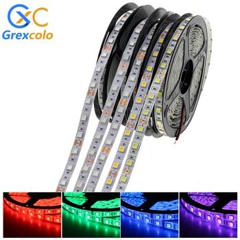 цена на LED Strip Light RGB RGBW RGBWW 5050 SMD Flexible Ribbon Fita LED Light Strip RGB+CCT 5M 60LEDs/m Waterproof Diode Tape DC12V