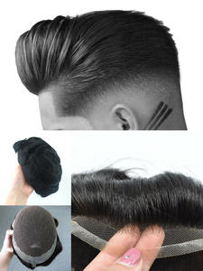 SSH Mens Wig Hairpiece Toupee Lace-Frontal Human-Hair Prosthesis Replacement-System Breathable