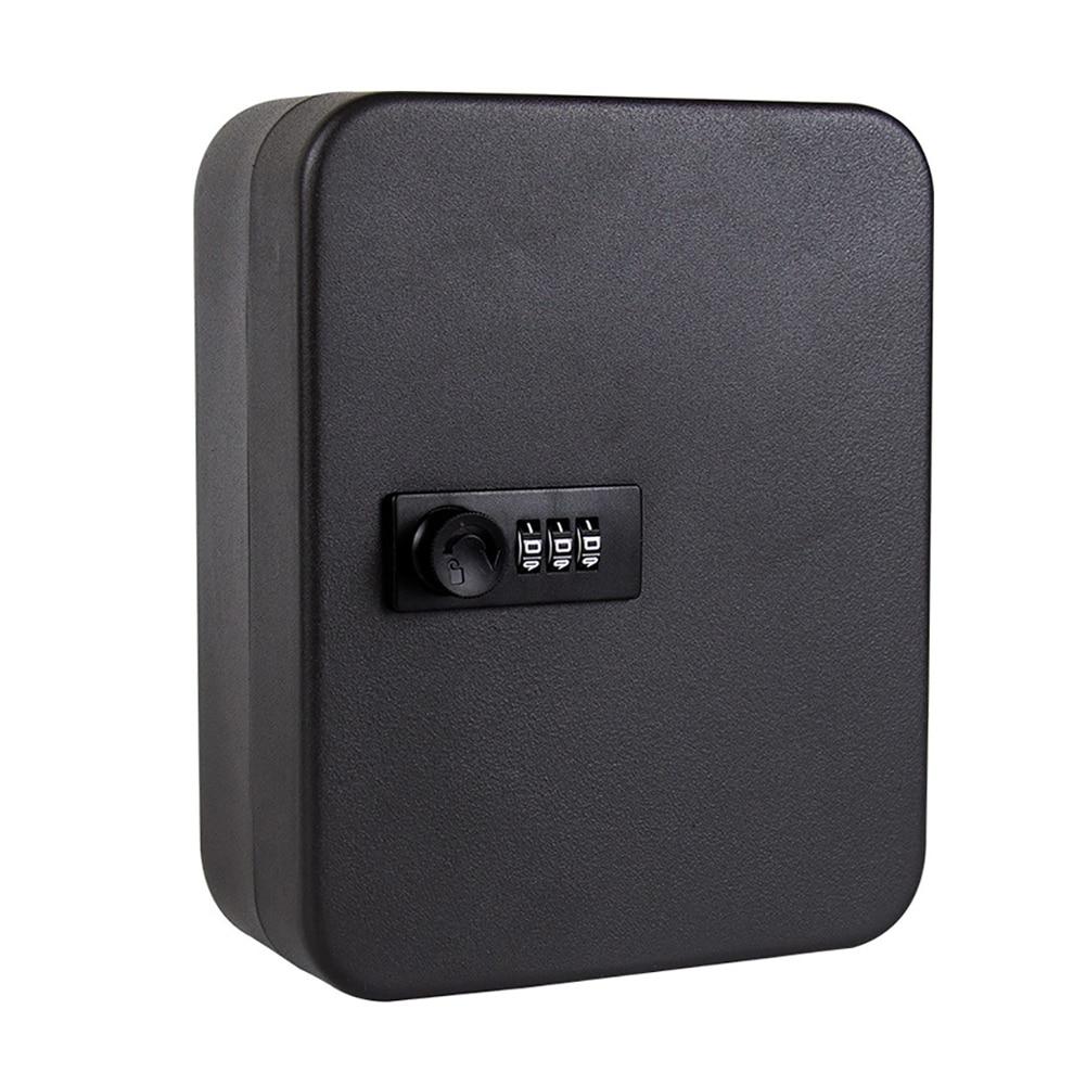 Storage Cabinet Car Password Combination Lock Lockable Key Safe Box Wall Mounted Indoor Outdoor Security Organizer Metal Home
