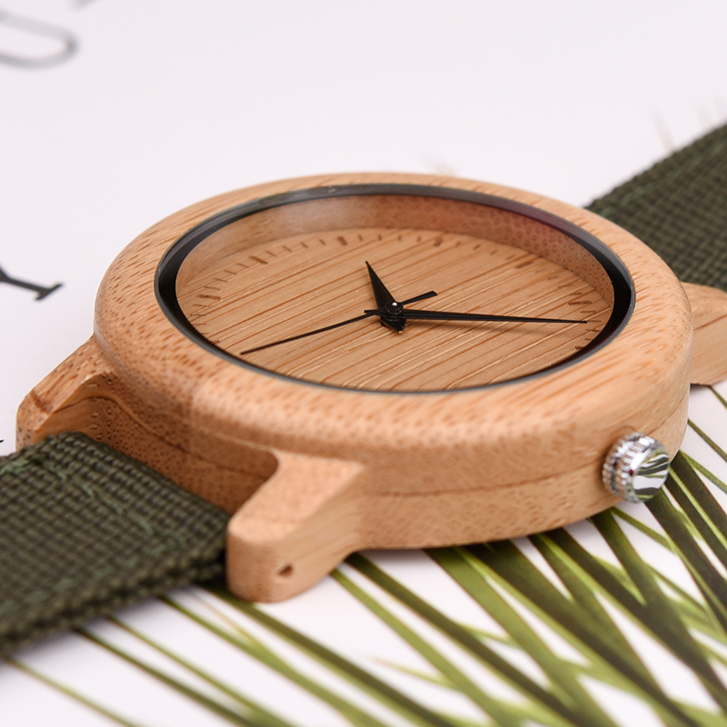 Image 3 - DODO DEER Bamboo Wooden Quartz Wrist Watch for Love Nylon Strap Couple Wooden Customize Watches for Men and Women OEM B05Lovers Watches   -