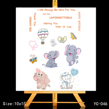 ZhuoAng Little elephant Clear Stamps/Card Making Holiday decorations For  scrapbooking Transparent stamps 10*15cm