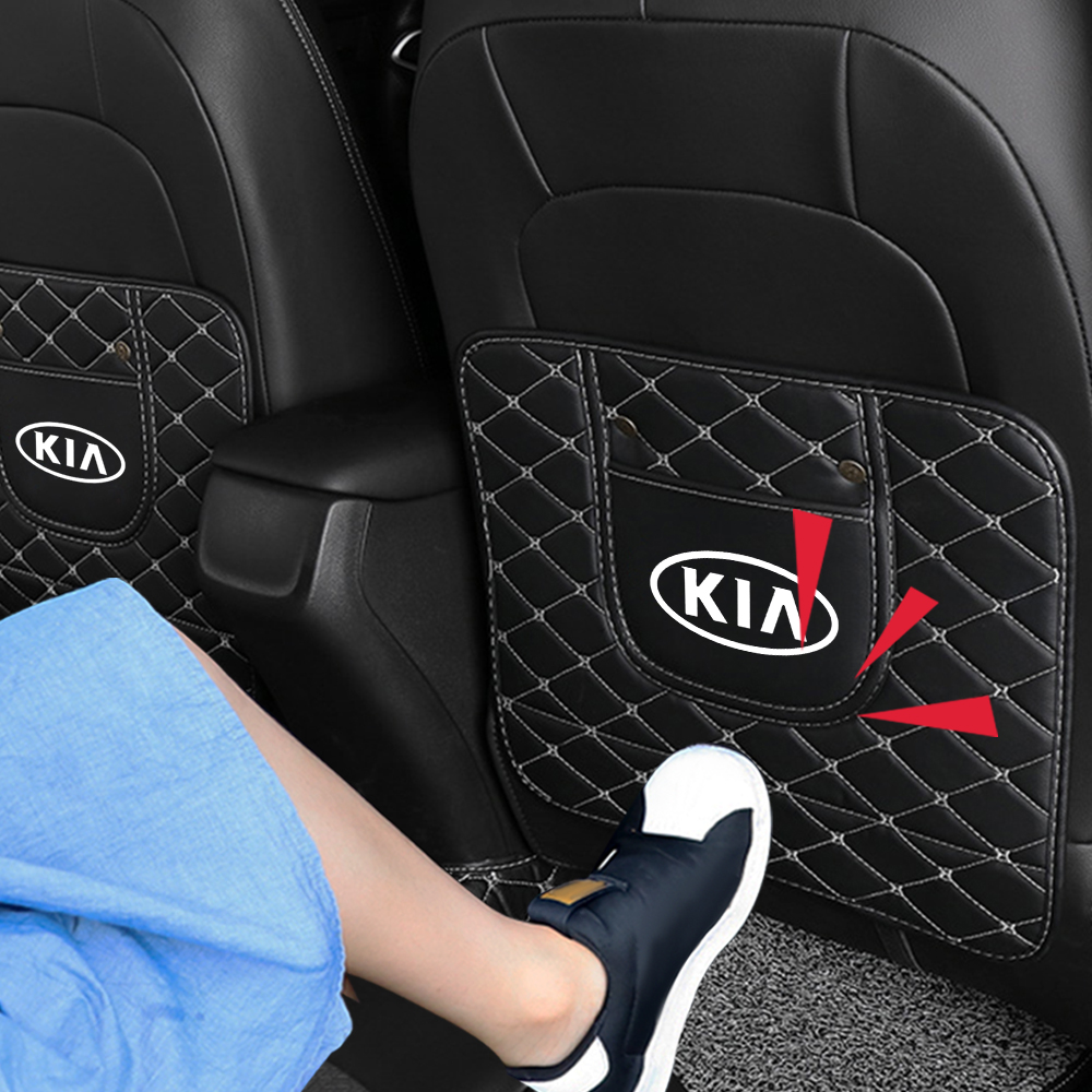Автомобильное сиденье из волоконной кожи противоударный коврик