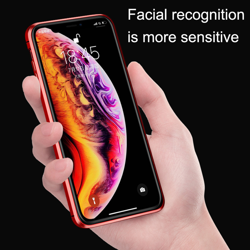 Image 2 - Double sided glass Magnetic Adsorption Phone Case for iPhone XS MAX X XR Case Metal Magnet Cover 360 Full Protection  Phone Case-in Fitted Cases from Cellphones & Telecommunications