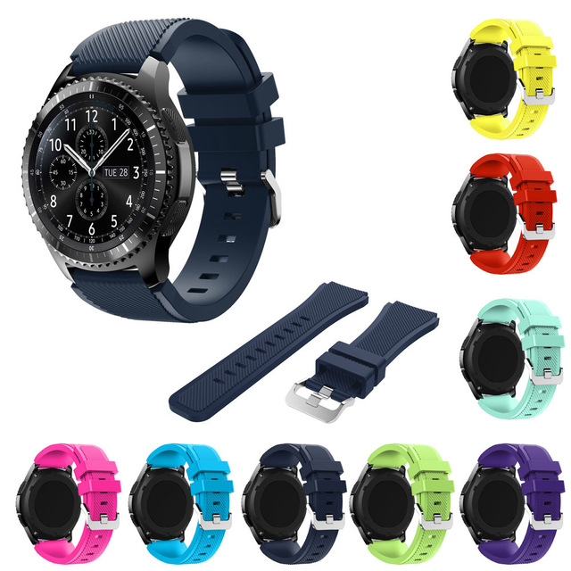 Sport Silicone Watch Band For Samsung Gear S3 Classic Frontier 22mm Silicone Gel Watch Band S 3 Sport Strap Replacement Bracelet