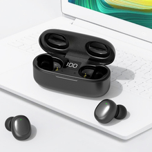 TWS GW13 Touch Bluetooth 5.0 Headset Wireless Earpiece LED Digital Display HD Stereo Noise Reduction earphone with Microphone