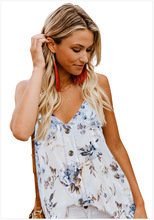 Womens V Neck Sleeveless Sexy Blouse Botton Down Tank Tops Casual Shirts Floral Tunic or Women and S-XXXL