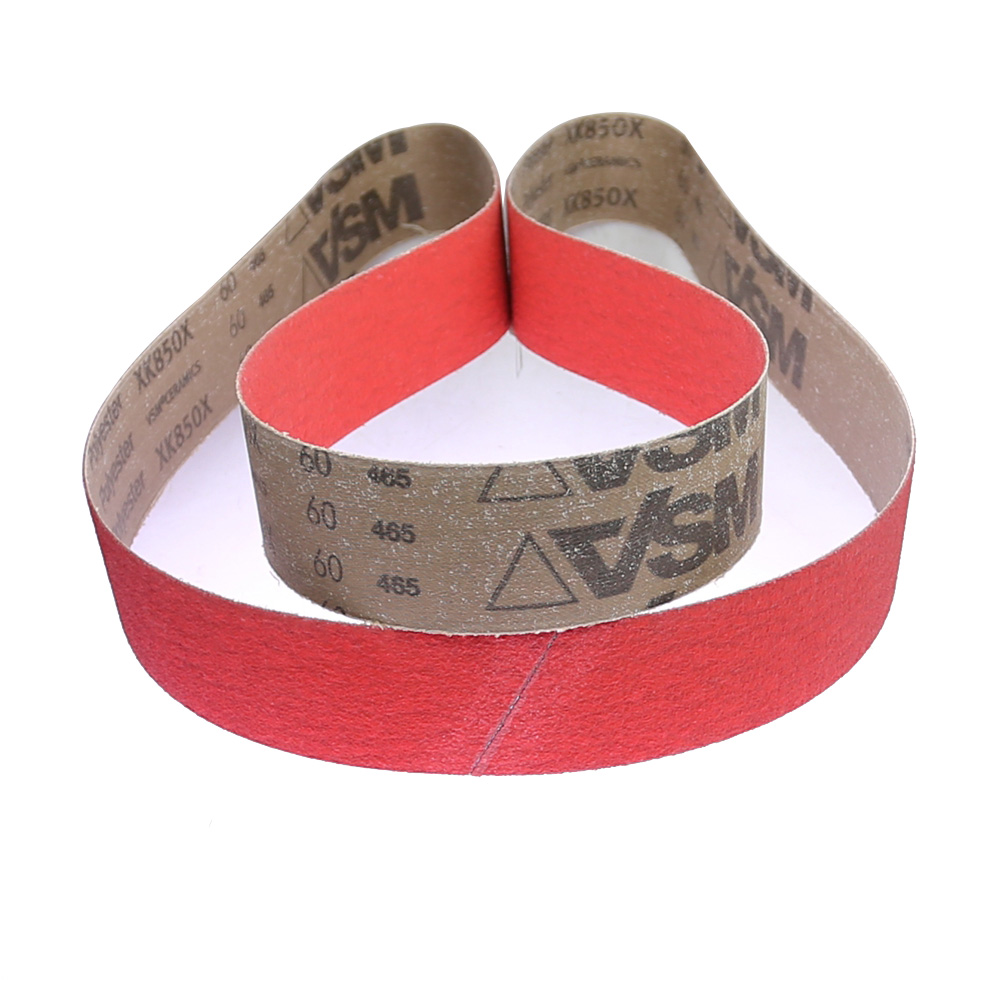 1 Piece VSM XK850X Ceramic Sanding Abrasive Belts For Super Hard Metal Grinding