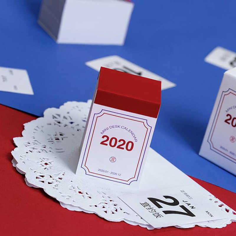 1 шт. креативный 2020 мини настольный календарь простой календарь ежедневный планировщик настольный планировщик Годовая программа органайзер канцелярские принадлежности