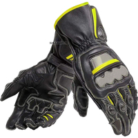 Dain Motocross Downhill Bike Off road Motorbike Scooter Automotive Black Yellow Leather Gloves|Gloves|   -
