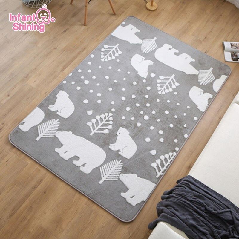Infant Shining Baby Mat Soft Playmat Big 190x240cm Kids Carpet Living Room Mats Kids Rug Soft Play Cotton  Baby Crawling Mat