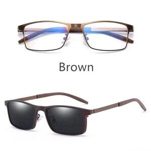 Image 5 - Magnet Brillen Vollrand Optische Rahmen Rezept Metall Legierung Spektakel Männer Myopie Brillen Multi Verwenden Sonnenbrille 996