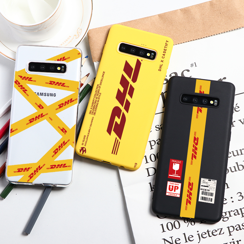 DHL Express Soft TPU <font><b>Cases</b></font> For <font><b>Samsung</b></font> Galaxy S10 S9 S8 Plus E S7 S6 Edge J8 <font><b>J7</b></font> J6 J5 J4 Plus J3 2018 <font><b>2017</b></font> 2016 2015 Prime <font><b>Case</b></font> image