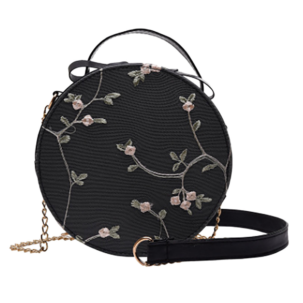 OCARDIAN Women's Fashion Lace Fresh Handbag Crossbody Bag Solid Color Floral Pattern Small Round Bag bags for women 2019 aug 26