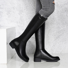 Liren 2019 New Winter Fashion Women Mid-Calf Zip Round Toe Med High Square Heels Comfortable Warm Sexy Boots