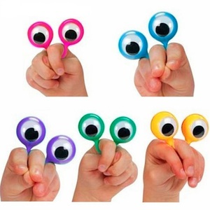 Attractive Interactive Wiggle Eye Finger Puppets Plastic Rings Fun Funny Gadgets Interesting Toys For Children Kid Birthday Gift