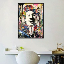 Modern Graffiti Wall Art Canvas Chaplin Posters And Prints Abstract Painting Art Pictures For Living Room Decor Cuadros NO Frame modern abstract oil painting posters and prints wall art canvas painting colorful rhythm pictures for living room decor no frame