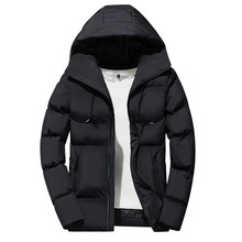 купить Men Parka Jacket 2019 Men's Winter Solid Color Simple High Quality Casual Down Jacket Warm Thick Hooded Parkas Male по цене 1573.57 рублей