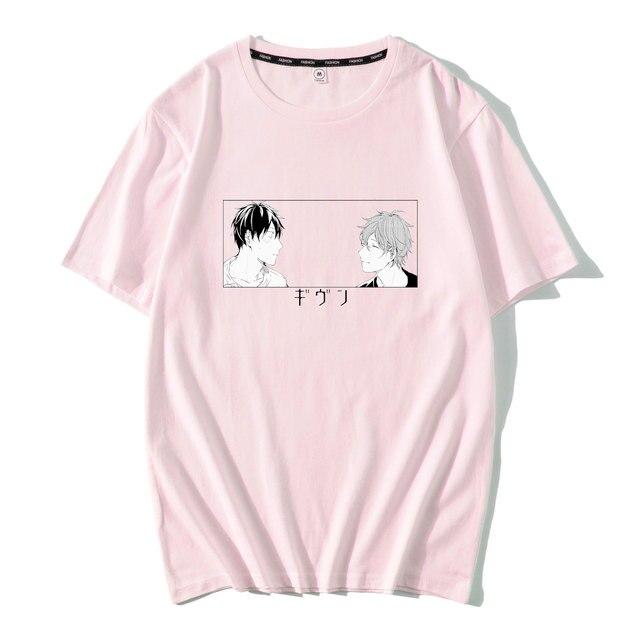 Yaoi-t-shirt homme, Streetwear à la mode et humoristique, Harajuku, avec Anime, musique, collection hauts amples
