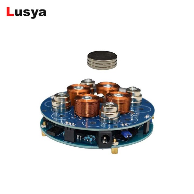 DIY magnetic levitation module Maglev Furnishing Articles Kit Magnetic Suspension Digital Module with LED lamp weight 150g