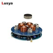 DIY moduł lewitacji magnetycznej Maglev artykuły wyposażenia wnętrz zestaw zawieszenie magnetyczne moduł cyfrowy z lampą LED waga 150g