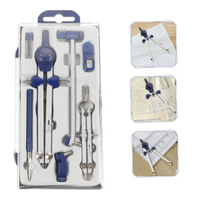 1 Set 7pcs Professional Drawing Compasses Practical Drafting Supplies