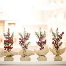 Christmas Tree Decoration Ornaments Pendant Pine Needles Accessories Navidad Decor Happy New Year