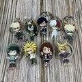 С героями из мультфильма «Мой герой Академии Asui цую FROPPY все возможно ключевая цепь Кулон Косплей двусторонний акриловый брелок для ключей о...
