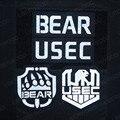 Вышитая нашивка в виде медведя USEC в России, инфракрасные Светоотражающие военные значки, наклейка на липучке, эмблема, нашивки «сделай сам» ...