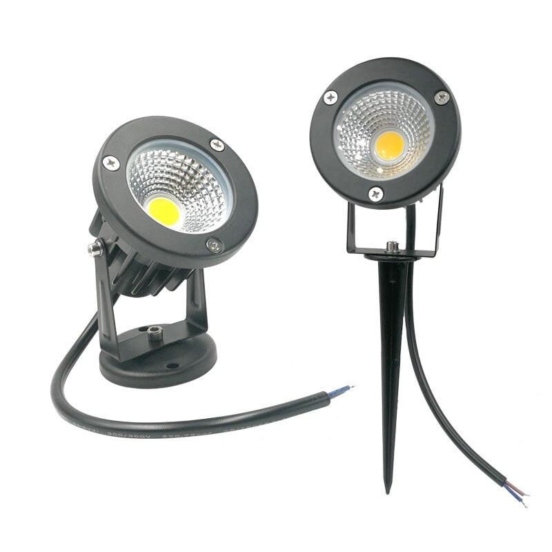 IP65 Garden Light 10W Garden Lawn Lamp Light 220V 12V Waterproof Spotlight LED Spike Light 3W 5W 12W Spike LED Landscape Light