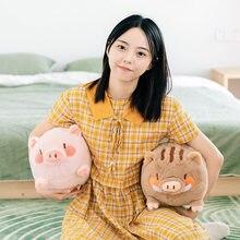 36cm bonito porco dos desenhos animados brinquedos de pelúcia macio travesseiro animal de pelúcia bebê acompanhar o sono boneca aniversário presentes de natal para crianças