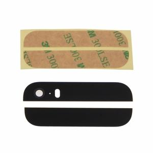 Top and Bottom Back Glass Replacement Panel For iPhone 5S Black Or White Color  LX9A