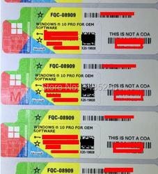 Microsoft Windows 10 Pro Key COA Sticker Win 10 professional OEM Label Working Lifetime Online software Global License OS 7