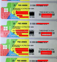 Microsoft Windows 10 Pro Key OEM COA Sticker Win 10 professional Label Working Lifetime Online Software Global License OS 7