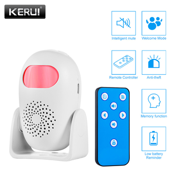 KERUI czujnik ruchu PIR bezpieczeństwo czujnik alarmowy antykradzieżowy czujnik ruchu witamy dzwonek wykrywacz ludzkiego ciała tanie i dobre opinie M120 PIR Motion Detector alarm welcome doorbell 150mm*60mm*90mm wireless Door Window Sensor FR Remote-controller 3*AAA DC 5V Micro USB