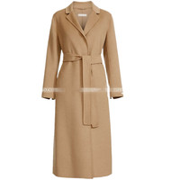 Women Plus size Autumn Winter cashmere coat women belted Cassic Simple Wool Maxi Long Coat Female Robe