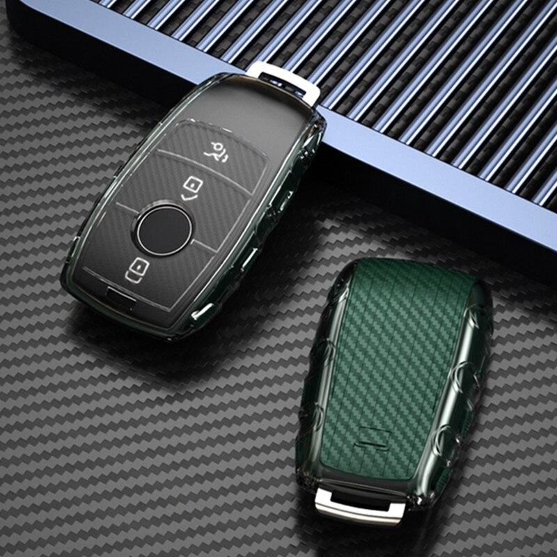 سيارة مفتاح حماية حالة غطاء لمرسيدس بنز 2017 2018 E المسلسلات E300 E200 E220 مايباخ S320L S450 S350 W204 W210 W203 w124