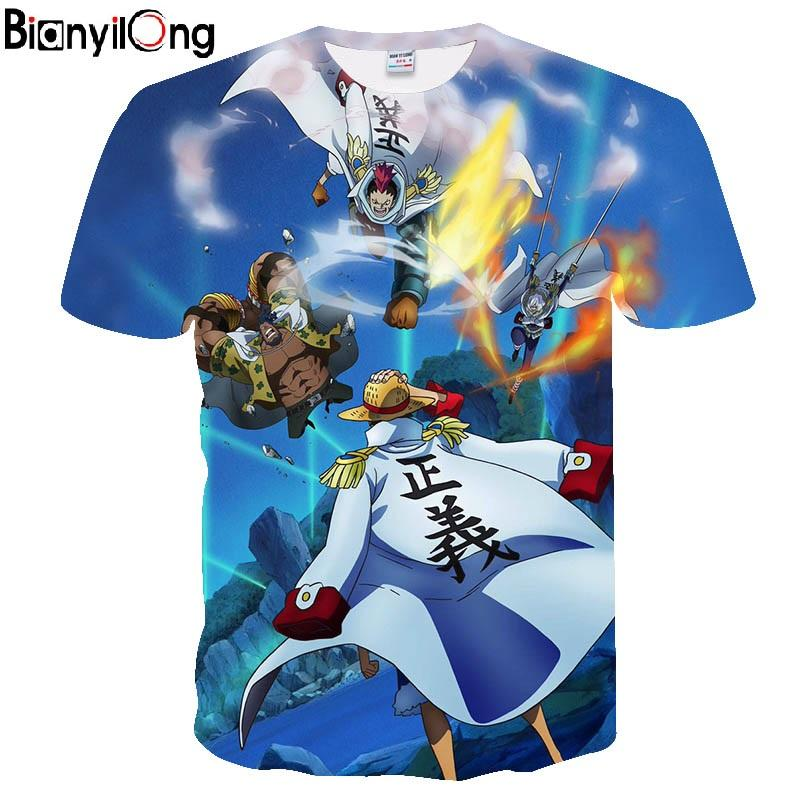 Newest Men Women Anime Characters Collection 3d Tshirts One Piece T-shirts Funny Men Cartoon Tees t shirts tops&tees
