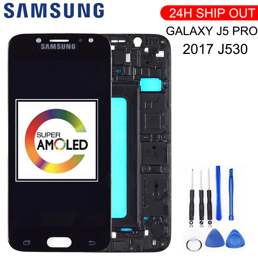 New 5.2'' Super AMOLED LCD For SAMSUNG Galaxy J5 2017 Display Touch Screen For SAMSUNG Galaxy J5 Pro LCD Display J530 With Frame