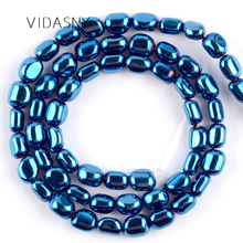 цены Natural Gem Beads Oval Shape Smooth Blue Hematite Loose Beads For Needlework Jewelry Making Diy Bracelet Necklace 5-8mm 15''