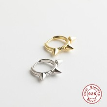 New S925 Silver Earring Hoop Earrings Women Gold/Silver Color Round Circle Earring Ear Ring Clip Earrings(China)