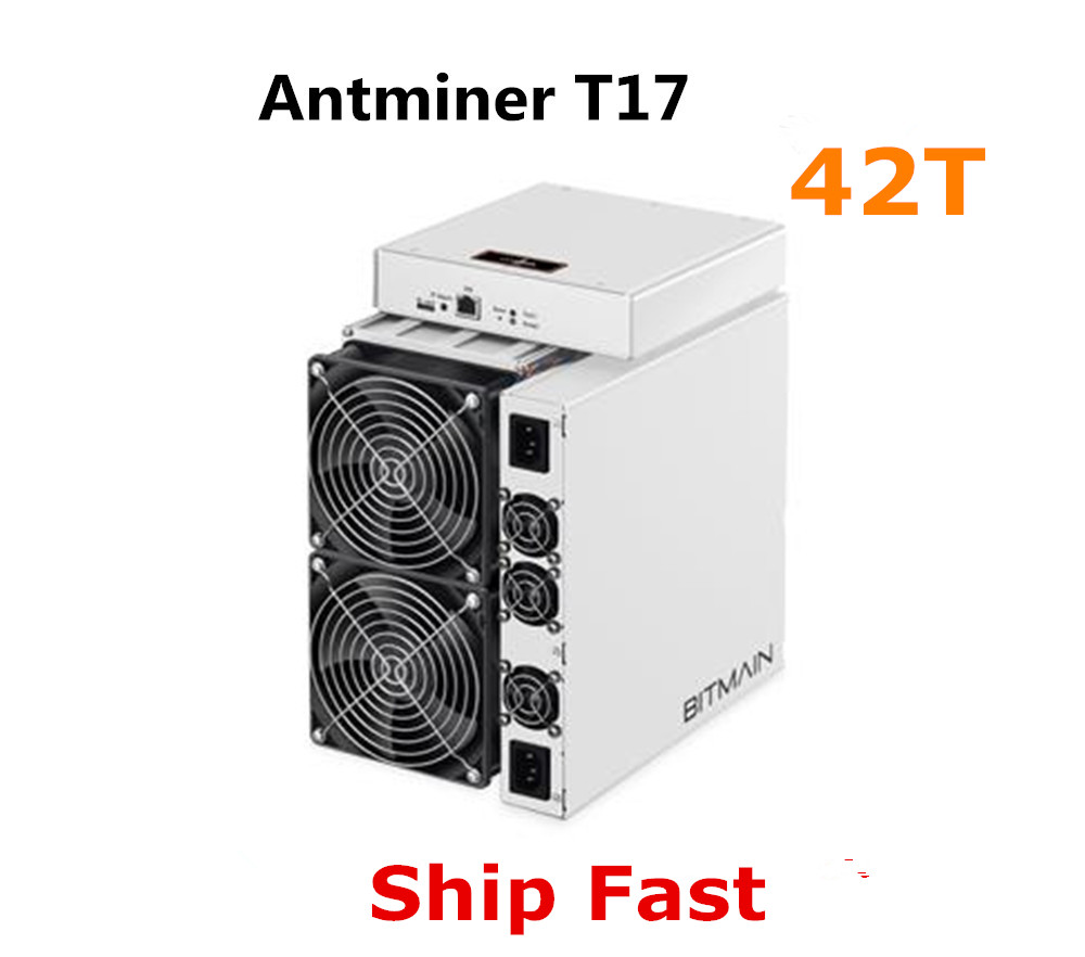 BITMAIN Newest Asic BTC BCH Miner AntMiner T17 42TH/S With PSU Better Than S9 S11 T15 S15 S17 S17 Pro Z11 WhatsMiner M3 M10 M20S