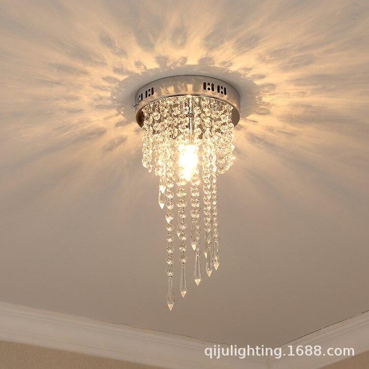 Modern Minimalist Crystal Chandelier Bedroom Crystal Lamp American-Style Village Ceiling Lamp Nordic Creative Lighting