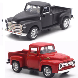 1:32 Scale Kids Alloy Pull Back Car Toy High Simulation Pickup Trucks Diecast Vehicles Miniature Car Model Toys Boy Gifts TY0485(China)