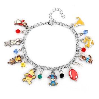 Cartoon Animal Charm Bracelet Cute Friendship Theme Bangle&Bracelet Kawaii Toy Wristlet Women Girls Jewelry