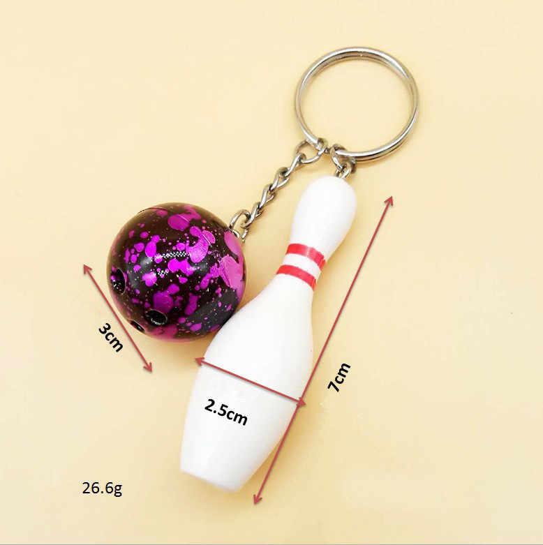تصميم بارد الفاخرة الرياضة سلاسل المفاتيح مفتاح سلسلة مفتاح السيارة حلقة البولينج سلسلة اللون قلادة للرجل النساء هدية بالجملة