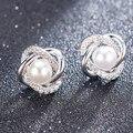 Женские серьги-гвоздики с жемчугом, серьги с кристаллами и звездочками, свадебные украшения, аксессуары для невесты, 2020